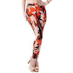 * Penny Deals * - HDE Sexy Womens Patterned Print Design Stretch Leggings Tights Pants (Volcano Camo) *** Learn more by visiting the image link.