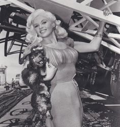 I adore this photo of Jayne Mansfield and her poodle