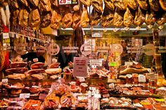 Museo del Jamon (Museum of Ham) Madrid, Spain - oh what I wouldn't give to go back again for a slice of parma ham!