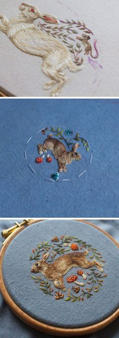 New Impossibly Intricate Embroideries by Chloe Giordano