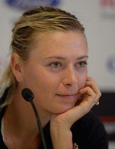 Maria Sharapova. Maria Sharapova speaks to the press during day 3 of the Internazionali BNL d'Italia 2014