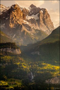 Power of Nature by Jan Geerk, via 500px; Berner Oberland, Switzerland