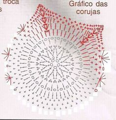 Pin by Sylvia Lopez on Grany Crochet Crochet Blocks, Granny Square Crochet Pattern, Crochet Diagram, Crochet Chart, Crochet Granny, Crochet Motif, Crochet Doilies, Crochet Flowers, Crochet Stitches