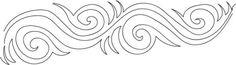 Free Motion Friday – Feather Swirl & Border
