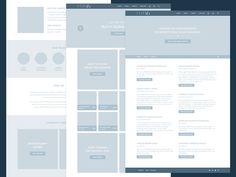 Union & Fifth Wireframes