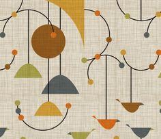 Mid Century Modern Repeat Pattern Graphic Design Patterns