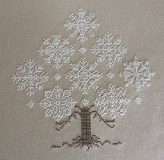My Cross Stitch Corner: Winter Forest by The Cricket Collection Great snowflakes Cross Stitching, Cross Stitch Embroidery, Embroidery Patterns, Cross Stitch Designs, Cross Stitch Patterns, Bordado Tipo Chicken Scratch, Cross Stitch Tree, Christmas Embroidery, Christmas Cross