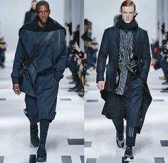Y-3 Yohji Yamamoto x Adidas 2015-2016 Fall Autumn Winter Mens Runway Catwalk Looks - Mode à Paris Fashion Week Mode Masculine France - Military Aviator Belt Straps Outerwear Coat Parka Bomber Jacket Blazer Jogger Sweatpants Jumpsuit Cargo Pockets Double Pants Trousers Topography Camouflage Print Graphic Pattern Hoodie Cap Onesie Boiler Suit Salopette Coveralls Playsuit Sneakers Bag Shorts Nylon Boots