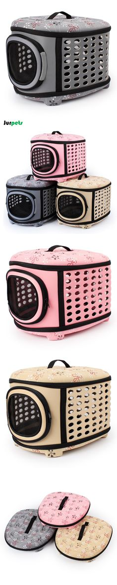 Foldable Outdoor Pet Carriers Travel Pet Bags Breathable EVA Puppy Carrier Bag Durable Shoulder Bags for small dogs cats
