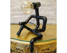 Your place to buy and sell all things handmade Pipe Lighting, Industrial Lighting, Steampunk Desk, Desk Lamp, Table Lamp, Man, Plumbing Pipe, Old World Charm, Decoration