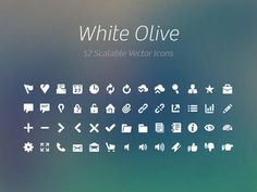 White Olive Icon Collection
