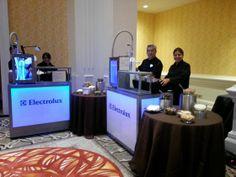 Liquid Nitrogen Ice Cream catering bars all set and ready for event  www.nitrogenicecreamorlando.com