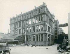 Mount Pleasant Parcel Office, south-west corner, following bomb damage, July 1943
