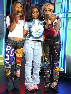 T-Boz and Chilli of TLC with Rain Drop 2002
