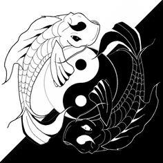 drawings of koi fish | Ying Yang Koi Fish by ~BenjiPrice on deviantART