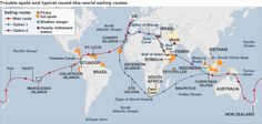 sailing world route | Trouble spots on the typical round-the-world sailing routes