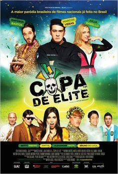 """""""Copa de Elite"""" (filme nacional - 2014). Comédia que satiriza vários filmes nacionais. Excelente elenco!. Humor sutil,só pra quem é fã do nosso cinema! Vale a pena!"""