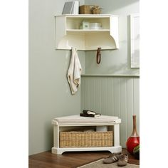 Corner unit for hall (from UK http://www.cotswoldco.com/hallway-furniture/shelf-units-and-benches/tetbury-corner-set-ivory/)