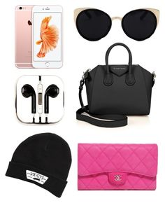 """Whats in my bag"" by hannahlee01 on Polyvore featuring Givenchy, Una-Home, PhunkeeTree, Vans and Chanel"