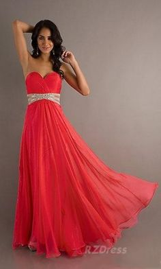 Long Coral Prom Dress | Coral Prom | Pinterest | Coral prom ...
