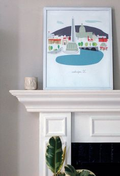 Washington DC by albiedesigns on Etsy, $30.00