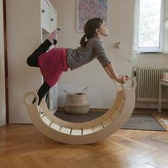 Schaukel-Wippe aus Holz