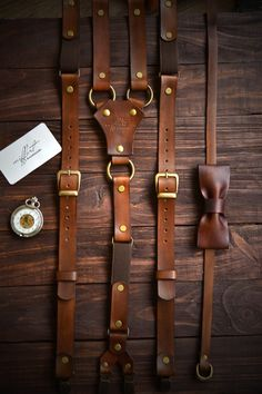Leather Dual Camera Harness Tan Saddle Ring Back Alternative Streetwear Style