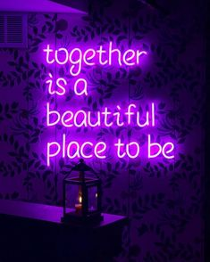 Love always neon aesthetic, quote aesthetic, fun Neon Purple, Purple Walls, Purple Love, All Things Purple, Purple Rain, Dark Purple, Lavender Aesthetic, Violet Aesthetic, Aesthetic Colors