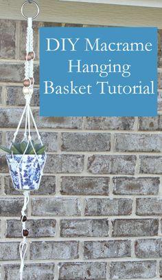 DIY Macrame Hanging Basket!