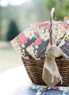 floral ceremony programs | Melissa Schollaert #wedding