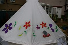 Bells & Labs: Painting your own canvas Tents