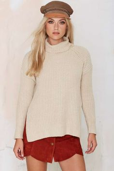 Neuw Splits Knit Turtleneck Sweater - What's New