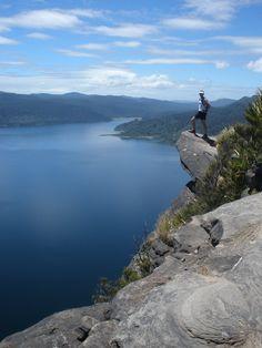 Panekire Bluff, Lake Waikaremoana, New Zealand