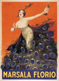 Poster by Jean d'Ylen (1886-1938), ca. 1920, Marsala Florio.