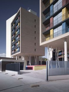 Gallery of Building for 163 Dwellings / ADI Arquitectura - 3  Colourful but laid back use of colours