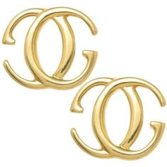 Preowned Gucci Gold Double G Earrings (88.345 RUB) ❤ liked on Polyvore featuring jewelry, earrings, gucci, multiple, earring jewelry, 18k gold earrings, 18k gold jewelry and yellow gold jewelry