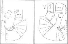 1720-tal, rock. Försöker förstå hur ett mönster till en rock är uppbyggt. Pattern, coat.