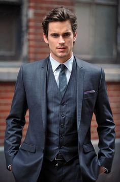Three piece suit, thin lapels