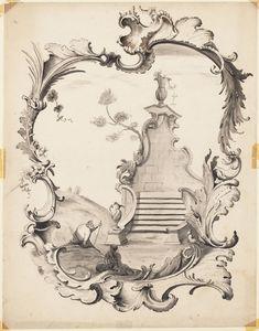 Design for a rococo ornament