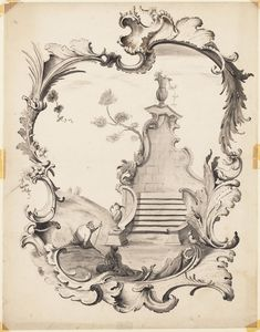 Design for a rococo ornament