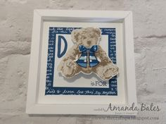 The Craft Spa - Stampin' Up! UK independent demonstrator : Baby Bear Dress Up in a Shadowbox Frame