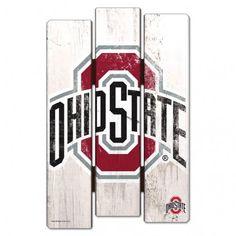Ohio State Buckeyes Wood Fence Sign