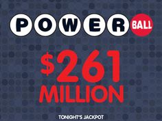PIN if you'd like to win tonight's $261 MILLION #Powerball jackpot. WOOH!