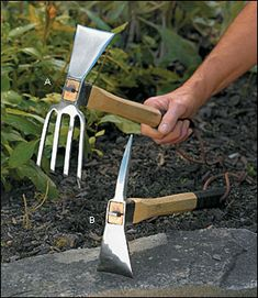 My all time favorite gardening tool! Stainless-Steel Mattocks - Gardening My all time favorite gar Small Garden Tools, Best Garden Tools, Garden Tool Shed, Small Space Gardening, Garden Care, Gardening Tools, Hand Tools Names, Cheap Power Tools, Farm Tools