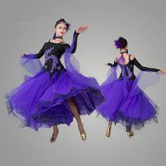 Pas cher 2016 standard salle de bal robe robes de concours de danse valse robe…