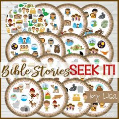 Seek IT! {Bible Stories Edition} PRINTABLE Matching Game