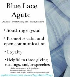 Blue Lace Agate crystal meaning