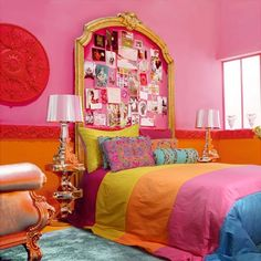 Would NOT do pink, but in blues and greens and purples, and love, love the Frame as headboard!