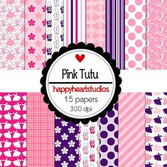 Digital Scrapbook  PinkTutuINSTANT DOWNLOAD by azredhead on Etsy, $1.50