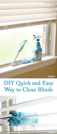 Cleaning Tips and Hacks To Keep Your Home Sparkling. Quick and Easy Way to Clean Blinds - Clever Ways to Make DYI Cleaning Easy. Bedroom, Bathroom, Kitchen, Garage, Floors, Countertops, Tub and Shower, Til, Laundry and Clothes http://diyjoy.com/best-cleaning-tips-hacks